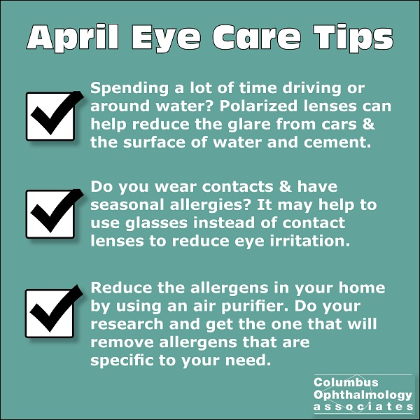 April eye care tips graphic