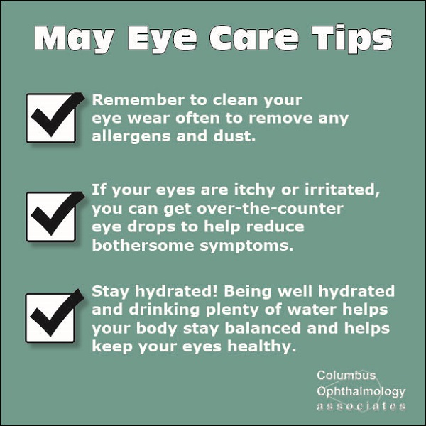May eye care tips graphic