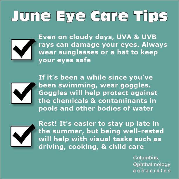 June eye care tips