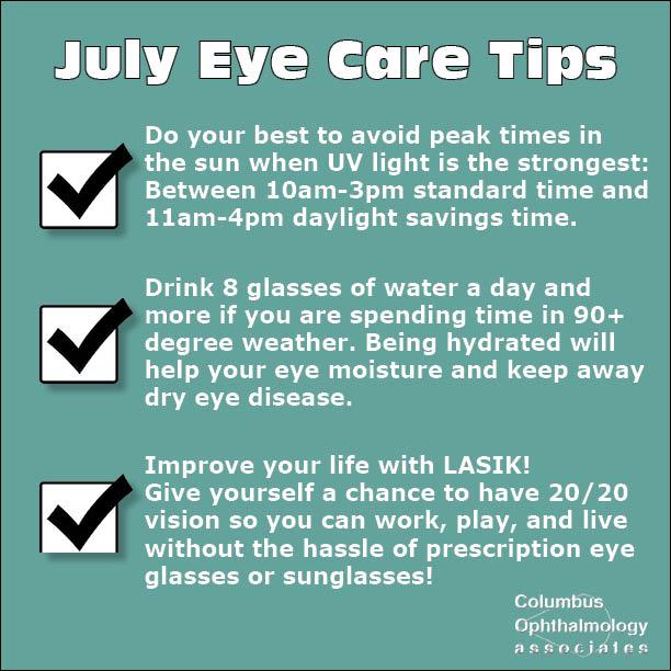 July eye care tips