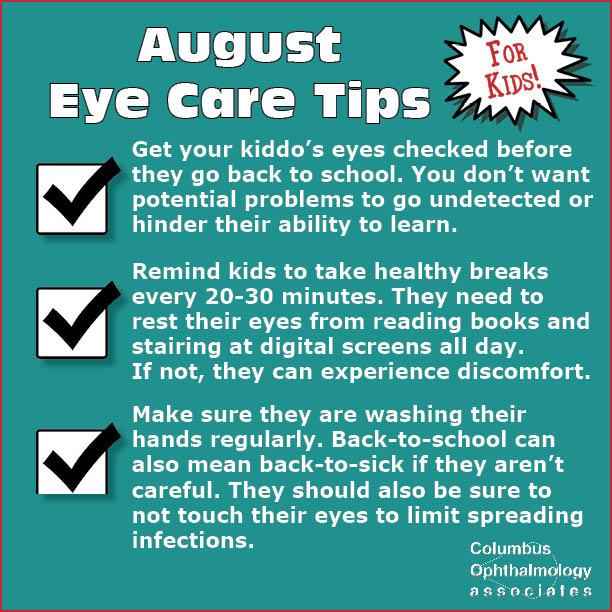 August eye care tips