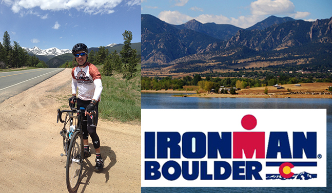 Derick Header at Ironman in Boulder