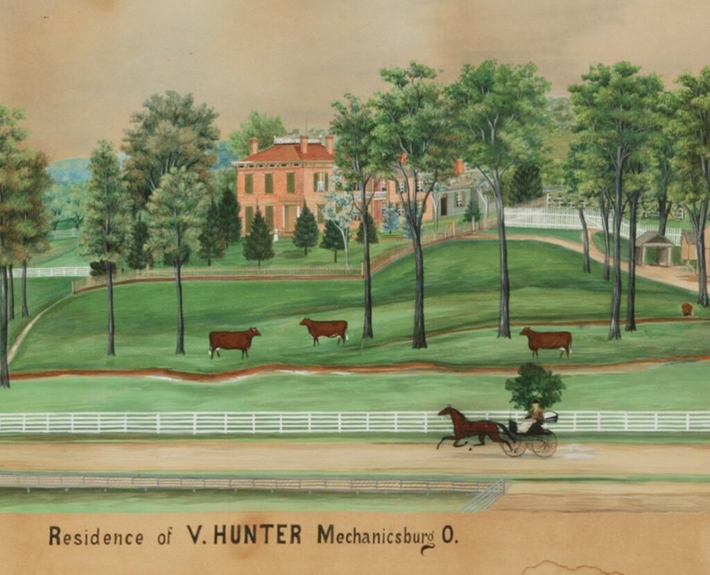 Henry Dousa's painting of Hunter House
