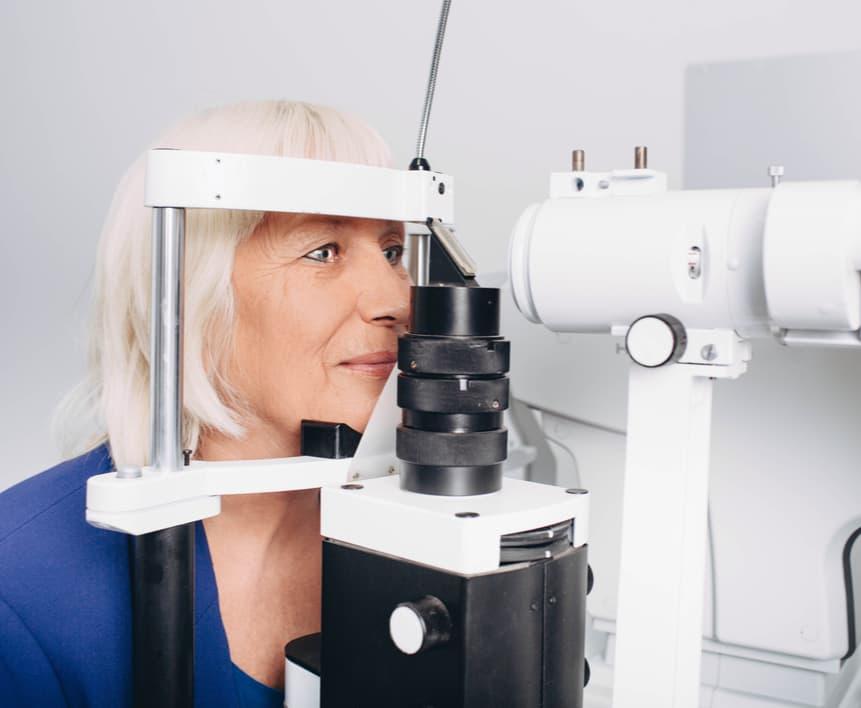 Senior eye exam